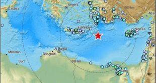 زلزال يشعر به سكان مصر ولبنان وسوريا وتركيا