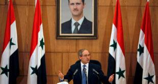المقداد: الدمار في سوريا تم غالبا بأموال عربية لكن الماضي يجب ألا يخنقنا