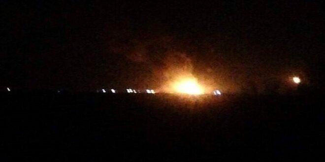 معلومات متضاربة حول أسباب حريق في معمل للغاز في الحسكة السورية