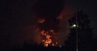 اندلاع حريق هائل في طريق قرى الاسد بضواحي دمشق