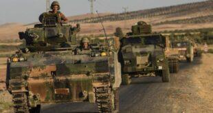 الجيش التركي يرسل تعزيزات عسكرية إلى محاور شرق الفرات سوريا